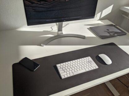 Bieżnik - podkładka na biurko, pod klawiaturę - ciemny brąz