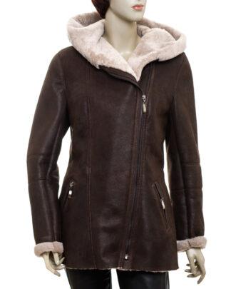 Kożuch, płaszcz damski - Aspen