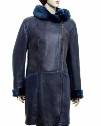 Płaszcz-kozuch skórzany Divine