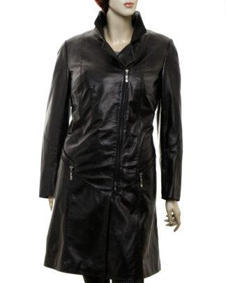 Płaszcz skórzany damski - Matrix