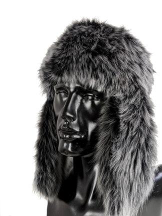 Stella - Czarna czapka zimowa - włoska skóra