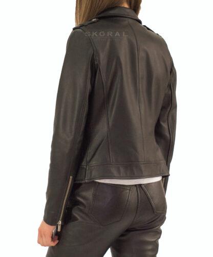 Ramoneska skórzana damska - spodnie skórzane Skóral